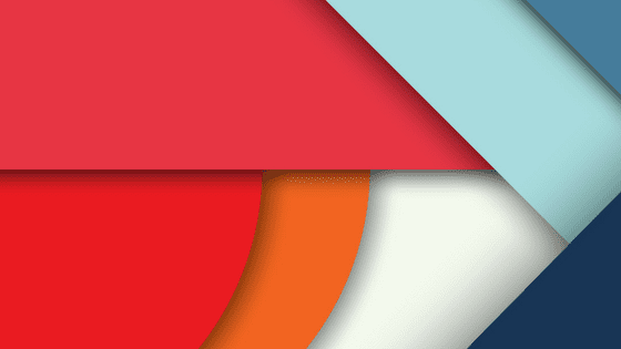 abstract art using material design; a design format created by Google
