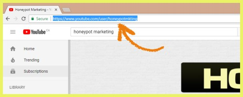 Copy and paste your YouTube channel URL into an empty document