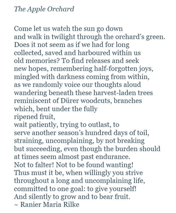 apple orchard poem