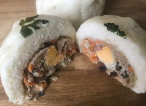 Vietnamese pork bun (banh Bao)