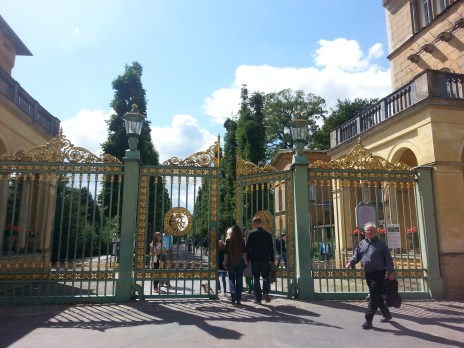 Entering the palace park!