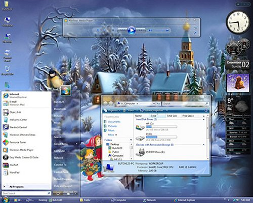 LifeRock_Christmas_XP_themes
