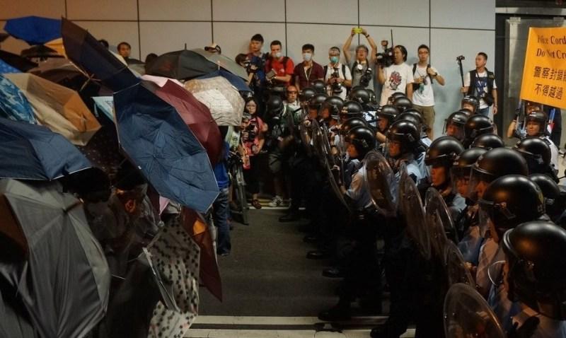 occupy hong kong umbrellas