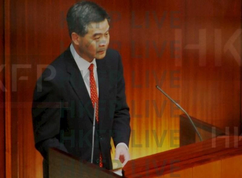 Leung chun Ying Q&A legco legislative