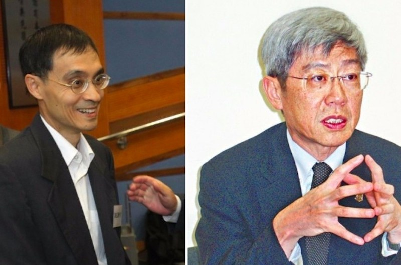 Albert Chen (left); Cheng (right). Photo: Apple Daily.