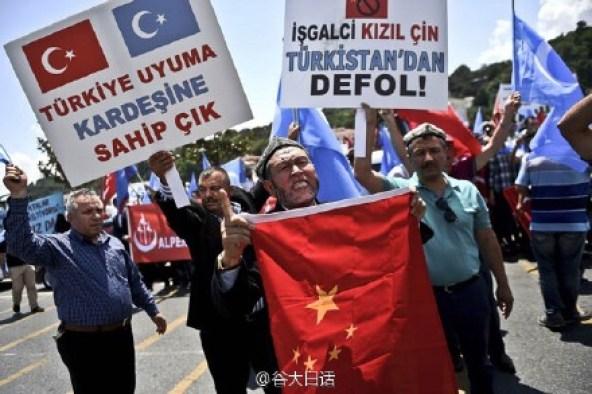 turkey anti-China protest
