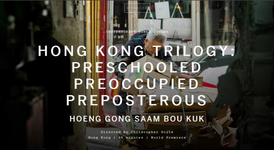 christopher doyle, hong kong trilogy