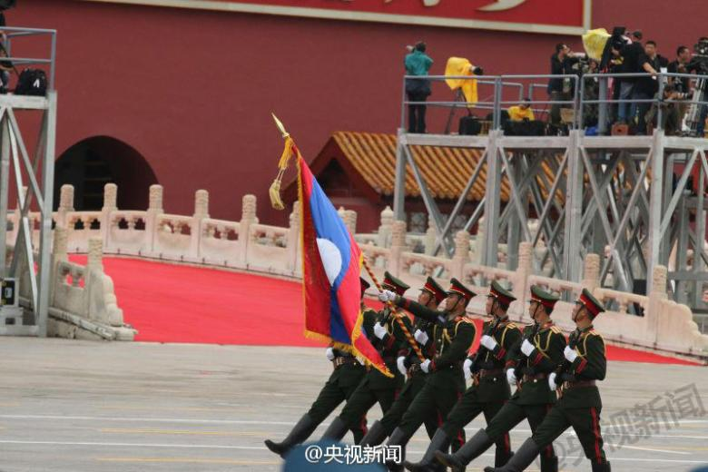Lao contingent at Victory Day rehearsal