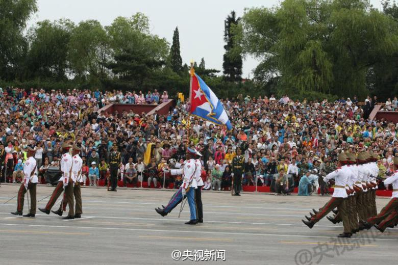 Cuban soldiers at Victory Day rehearsal.