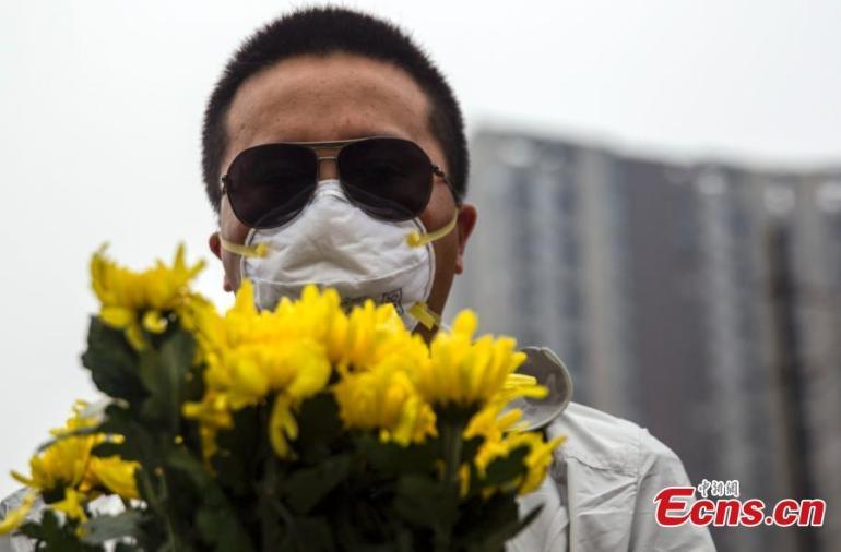 Tianjin mourner