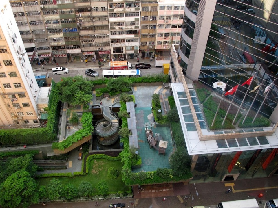 A public space, seen at Langham Place Mall.