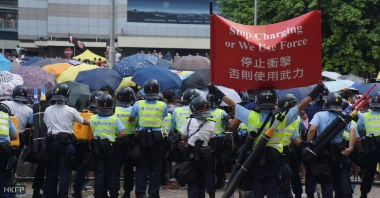 Police warning protesters during Occupy