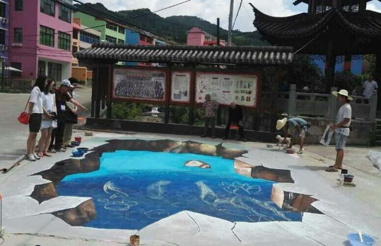china 3d paintings