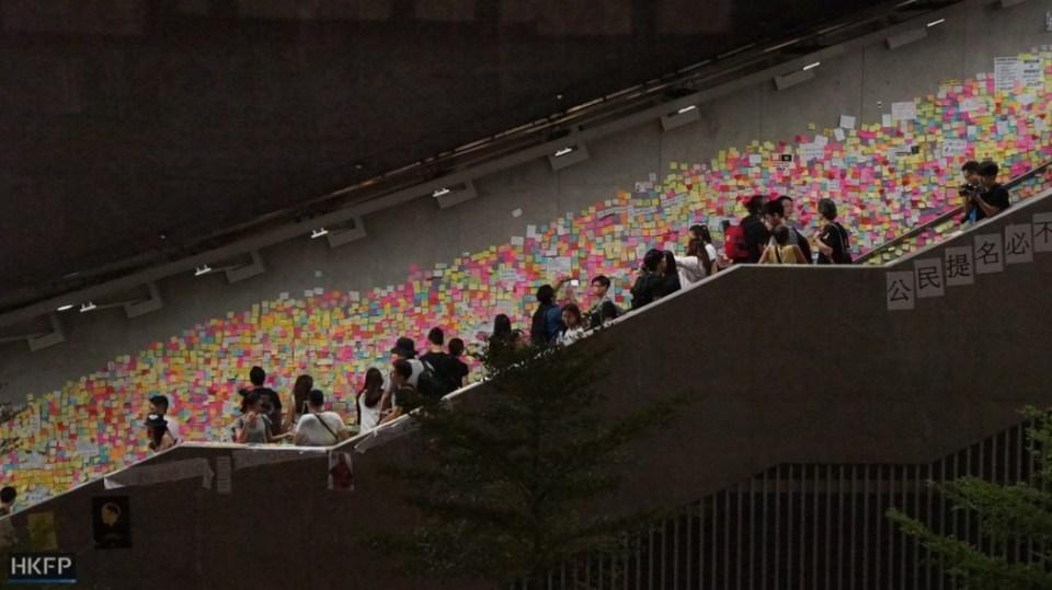 occupy central art umbrella