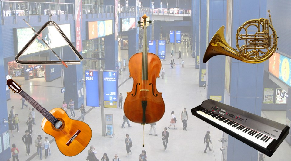 A protest was set to bring musical instruments to take MTR.
