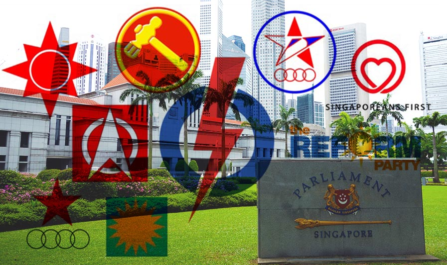 Singapore's political parties. Photo: HKFP.