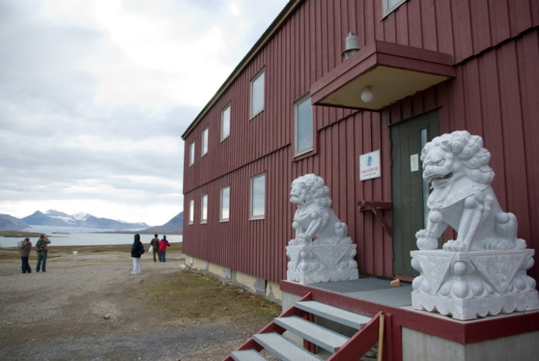 China's Yellow River research station on Svalbard. Photo: Rerun van Pelt/Flickr