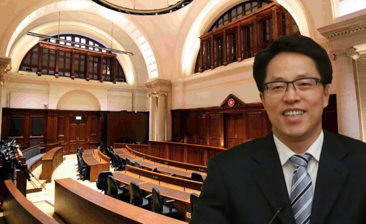 Zhang Xiaoming and interior of new Court of Final Appeal