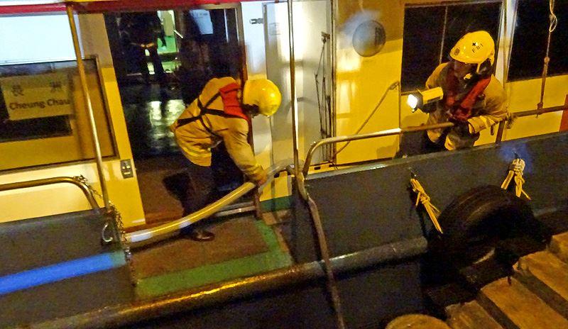 cheung chau ferry firefighter