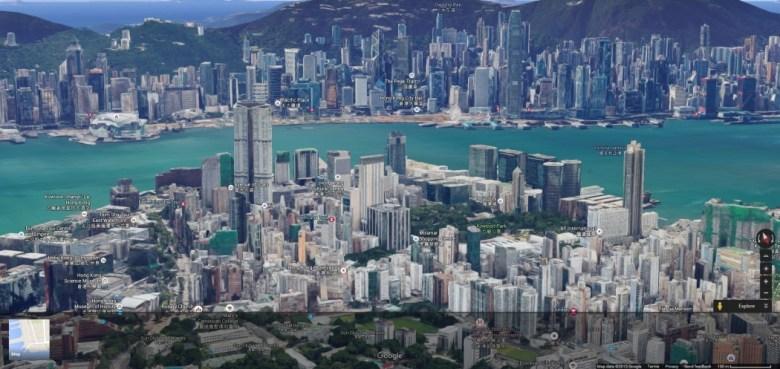 hk google maps 3d