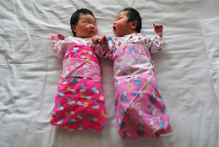 two chinese babies