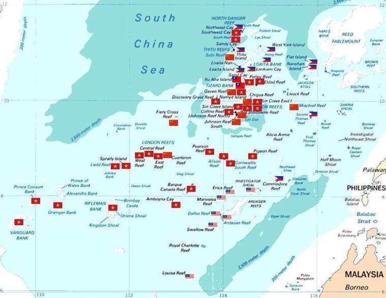 South China Sea territorial disputes. Photo: Wikicommons.