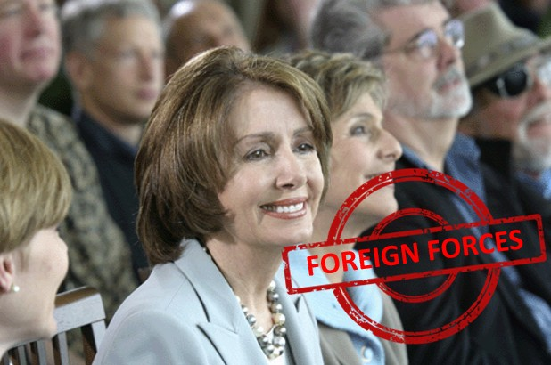 Nancy Pelosi foreign force