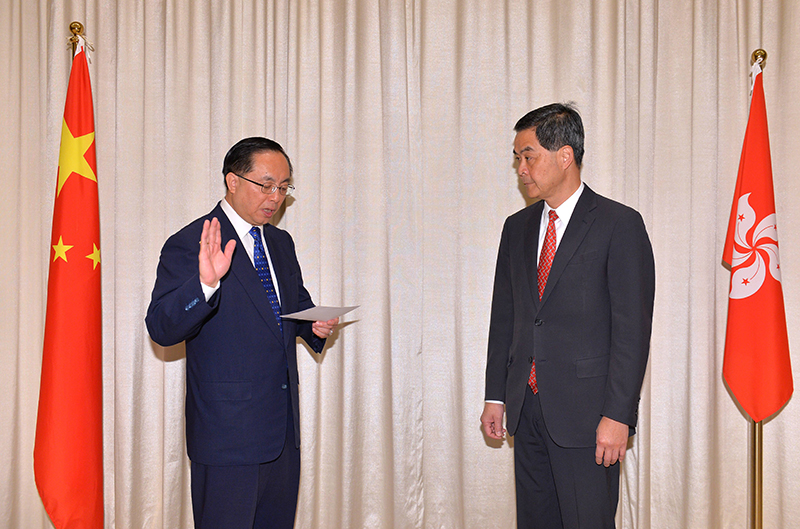 Nicholas Yang Wei-hsiung was appointed as Secretary for Innovation and Technology.
