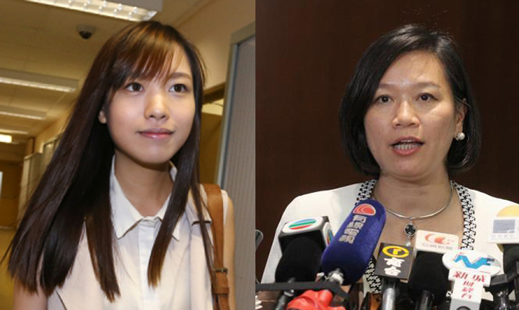 Yau Wai-ching (left) and Priscilla Leung (right).