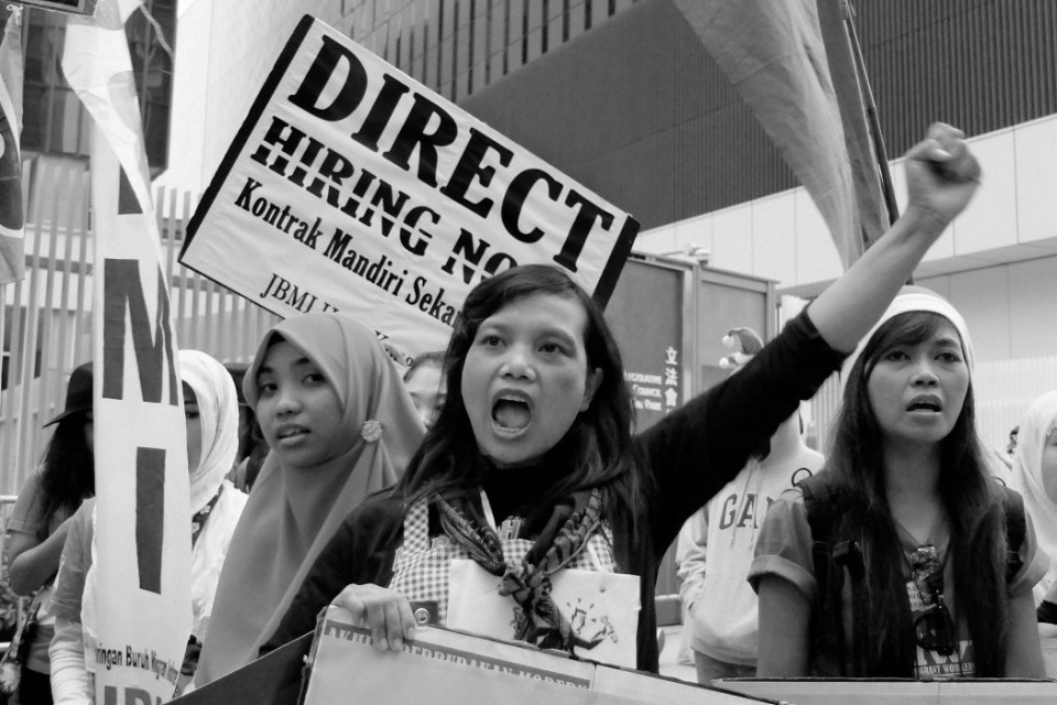 foreign domestic workers march
