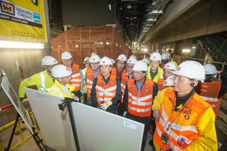 lawmakers visiting the west kowloon terminus