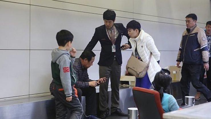 Chinese man at Jeju airport