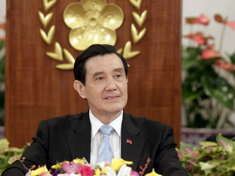 Taiwan's President Ma Ying-jeou listens to a question during a news conference before his upcoming meeting with Chinese President Xi Jinping, at the Presidential Office in Taipei