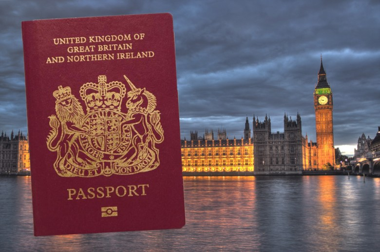"The BN(O) passport. A distinctive feature is that it does not have ""European Union"" on top. P"