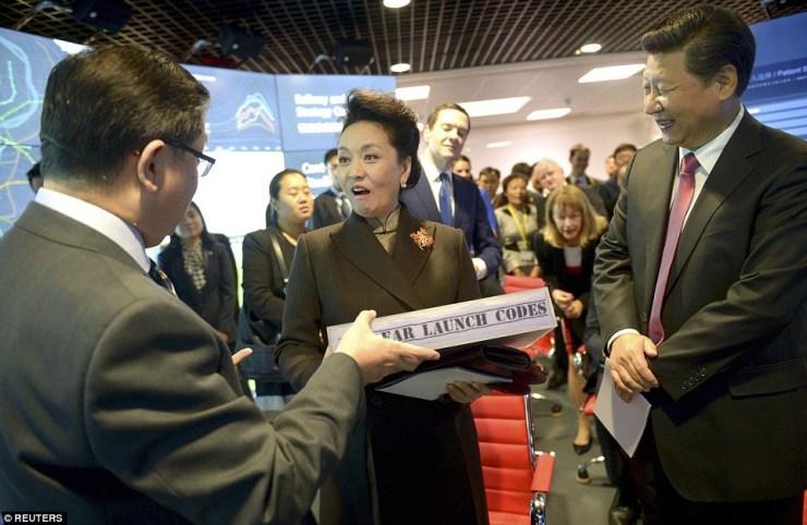 Peng Liyuan receives classified information as gift