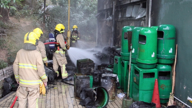 rubbish bins fire