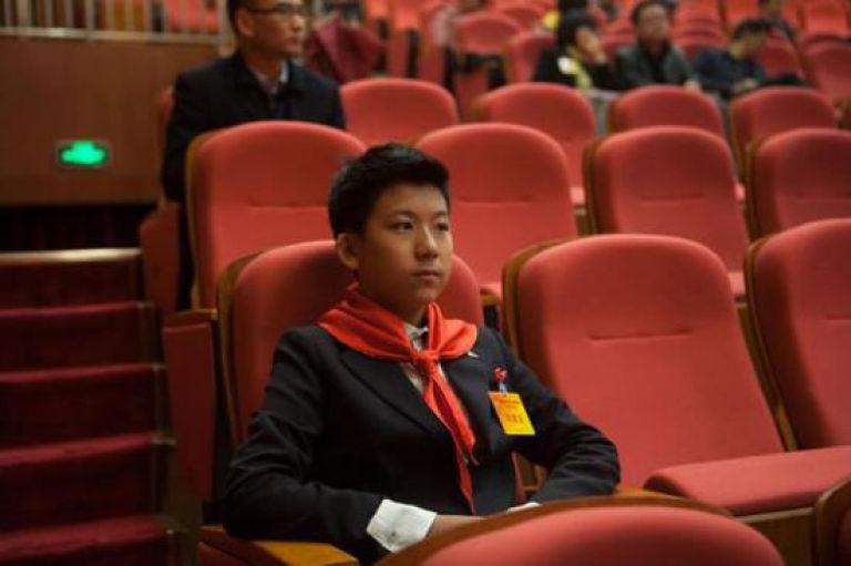Liu Bo sitting in CPPCC meeting