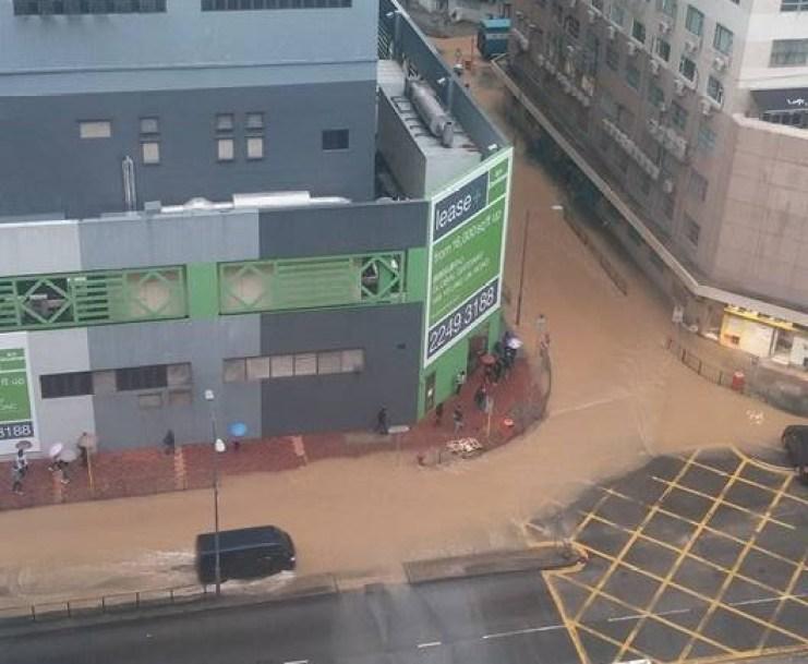 Flooding in Tsuen Wan