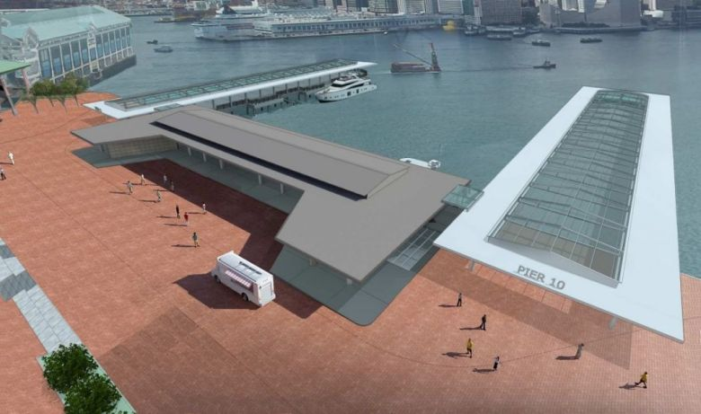 Queen's Pier relocation option A.