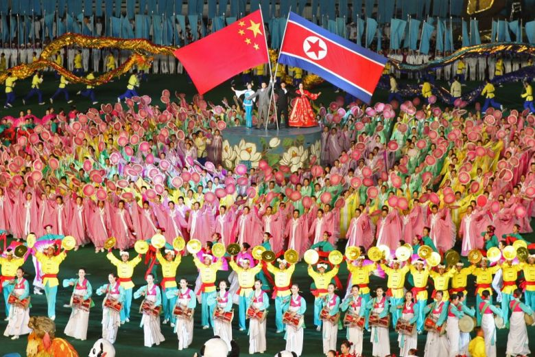 The close China-North Korea relationship celebrated at the Mass Games in Pyongyang.