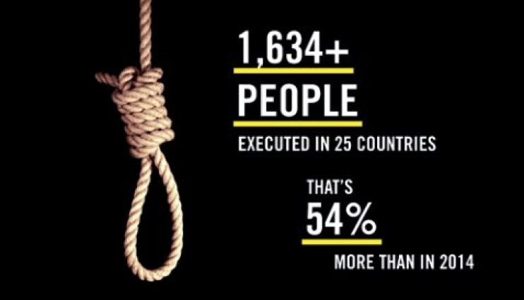 Number of executions Amnesty International
