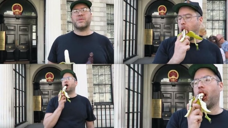 erotic banana eating