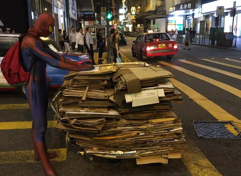 spiderman lan kwai fong