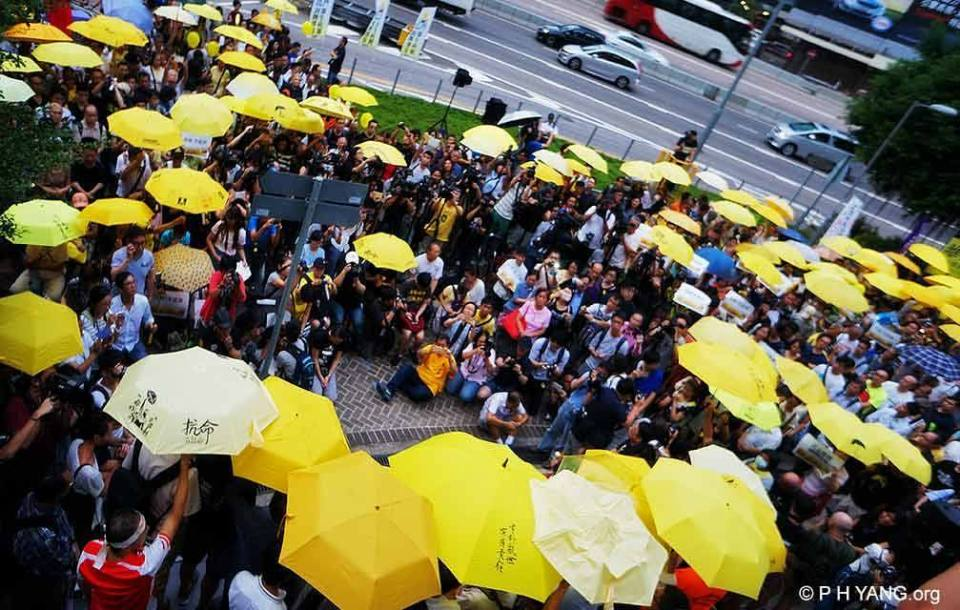 occupy second anniversary umbrella