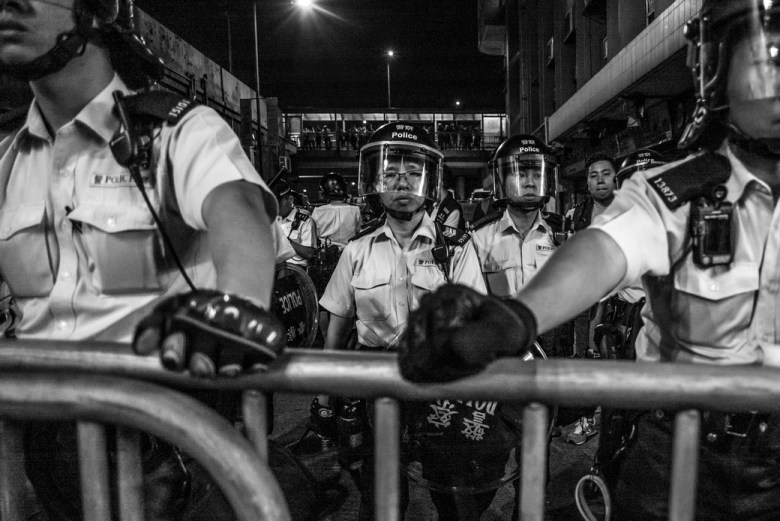 police liaison office unrest sheung wan independence basic law protest