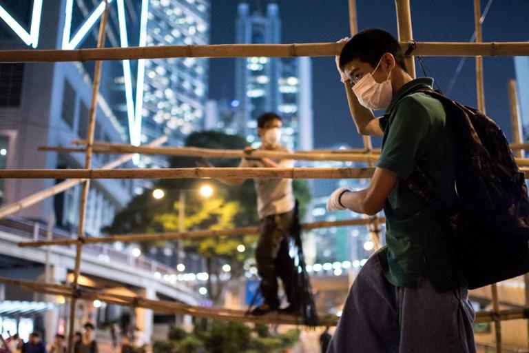 bamboo hong kong democracy occupy hong kong protest