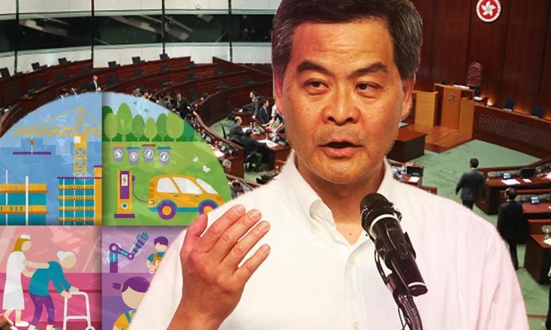 cy leung policy address 2017 live