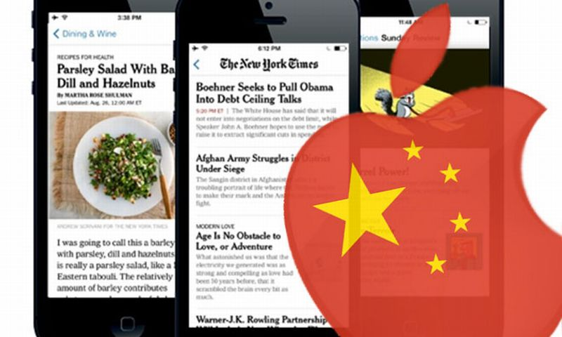 china apple new york times