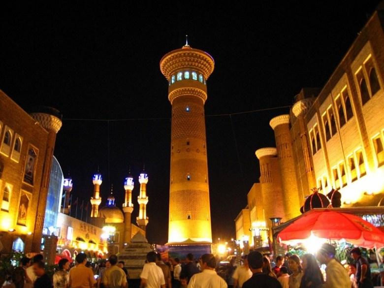 Urumqi xinjiang uyghur muslim bazaar market