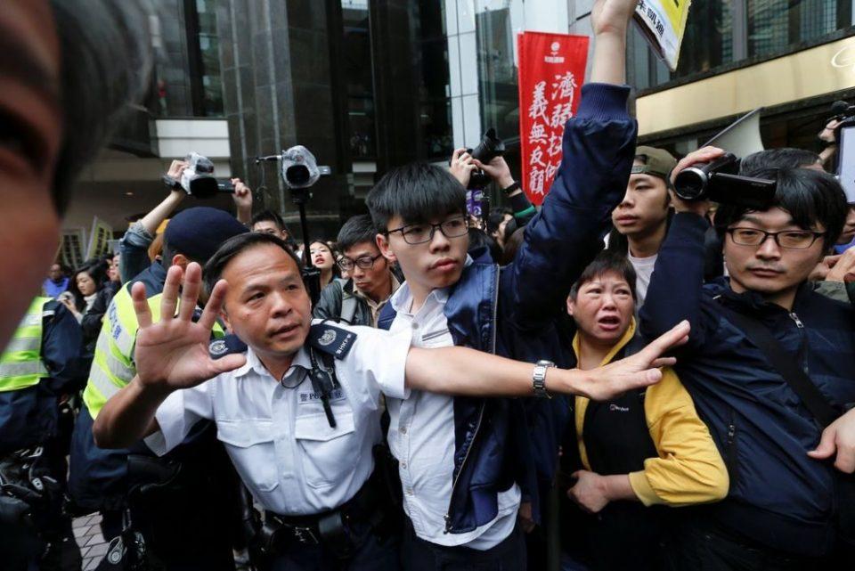 joshua wong chief executive election democracy umbrella protest 2017